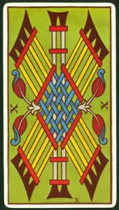 Significado 10 de Bastos Tarot