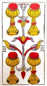 Significado Cuatro de Copas Tarot