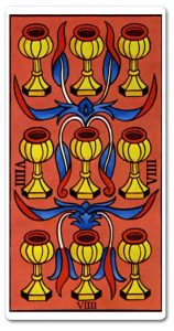 Significado Nueve de Copas en Tarot