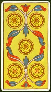 🕉️ «【 Significado Cinco de Oros Tarot 】»