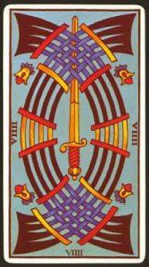 🕉️ «【 Significado Nueve de Espadas Tarot 】»