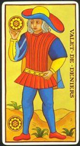 Significado Sota de Oros Tarot