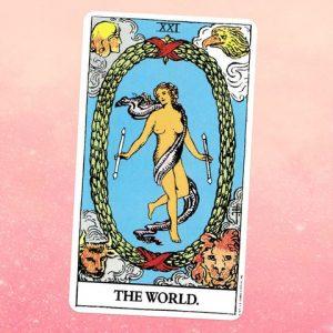 El Mundo o The World en el Tarot Rider Waite